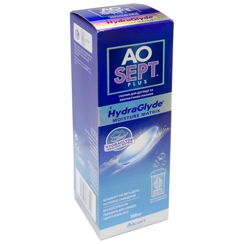 Alcon AoSept Plus Hydraglyde  360 мл 2